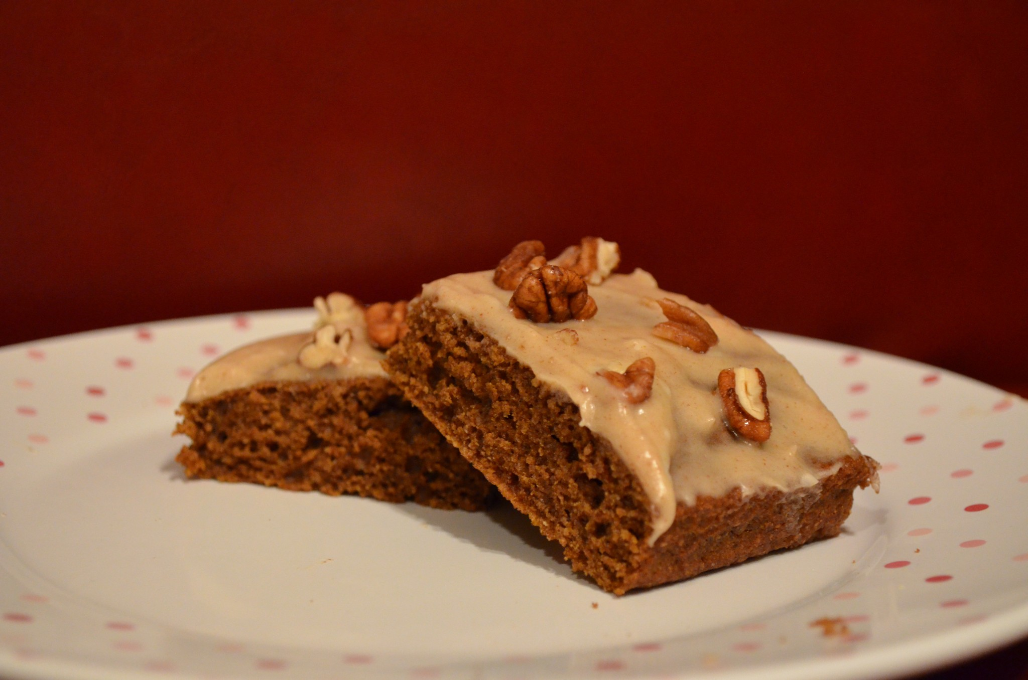 Pumpkin Bars with Maple Cinnamon Cream Cheese Frosting