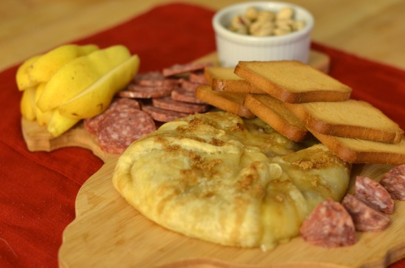 Baked Brie and Dried Sausage Board