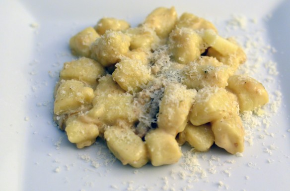 Cream Sherry Gnocchi with Chanterelles