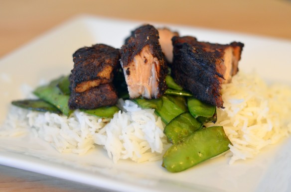Asian-Style Pork Belly with Snap Peas